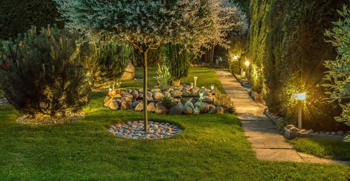 Jardin de rêve :  l'éclairage