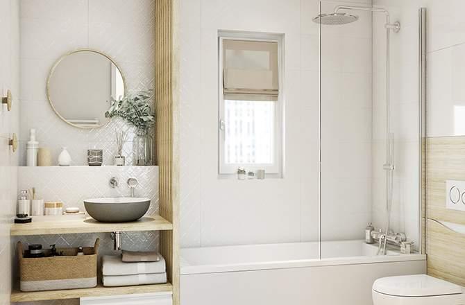 Décoration d'appartement  : salle de bain scandinave