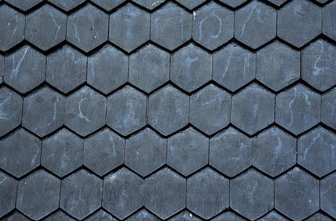 La toiture en hexagonale