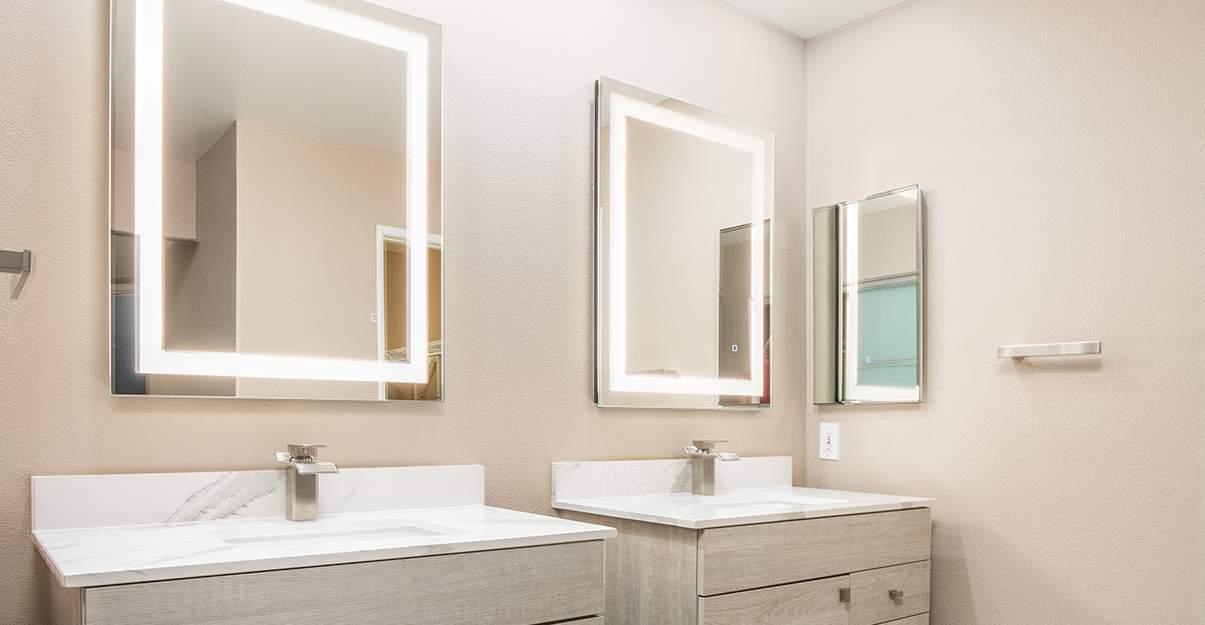 éclairage efficace pour la salle de bain