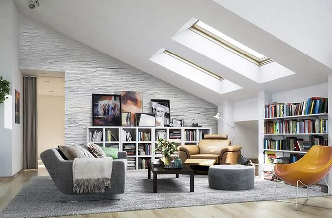Décoration des combles: privilégier les meubles bas