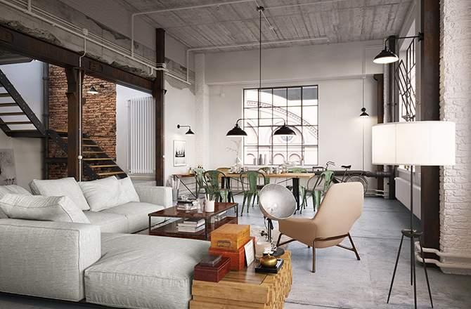 appartement déco industrielle