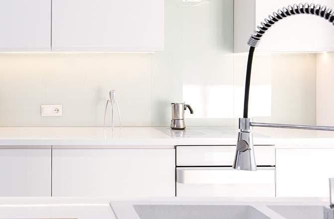 Décoration d'appartement : cuisine déco minimaliste