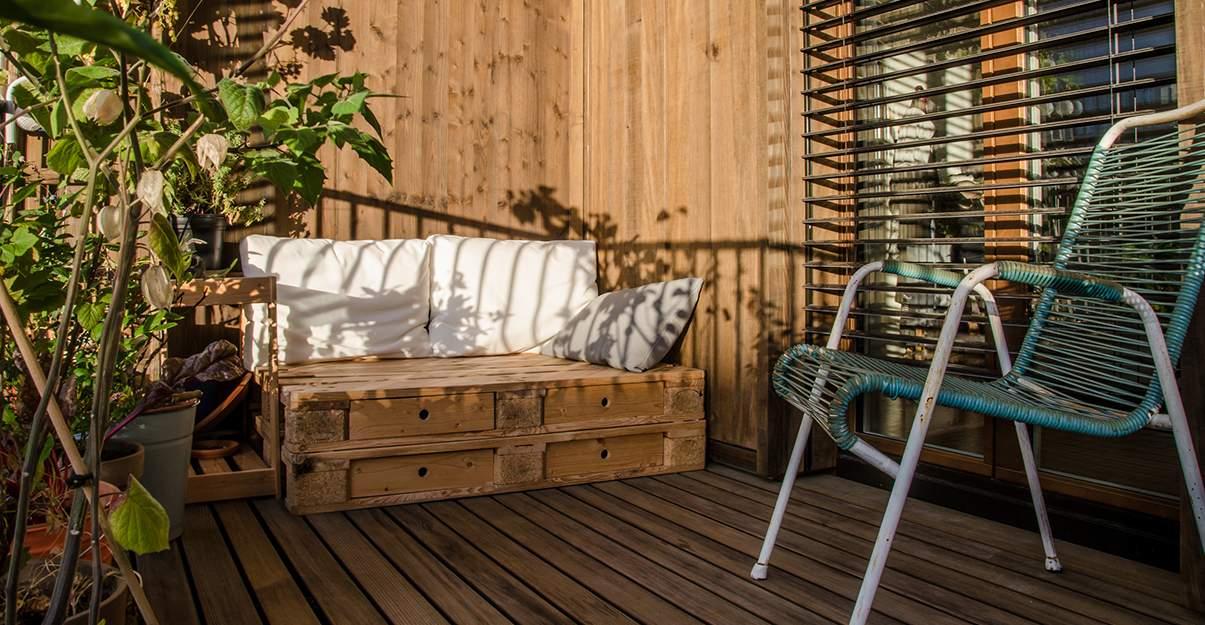 Aménagement d'un balcon: ameublement