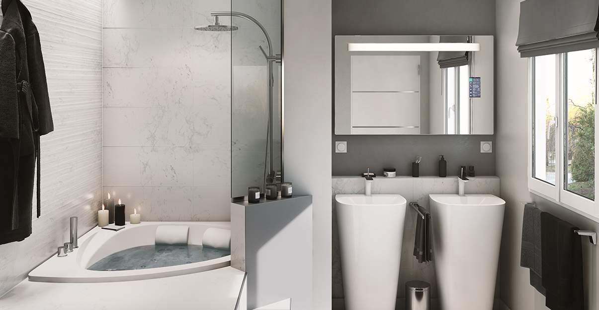 Salle de bain style moderne
