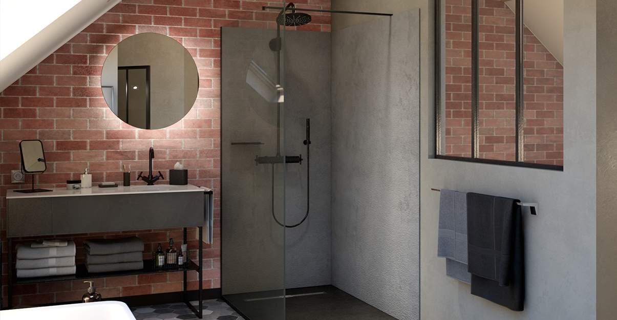 Salle de bain style industriel
