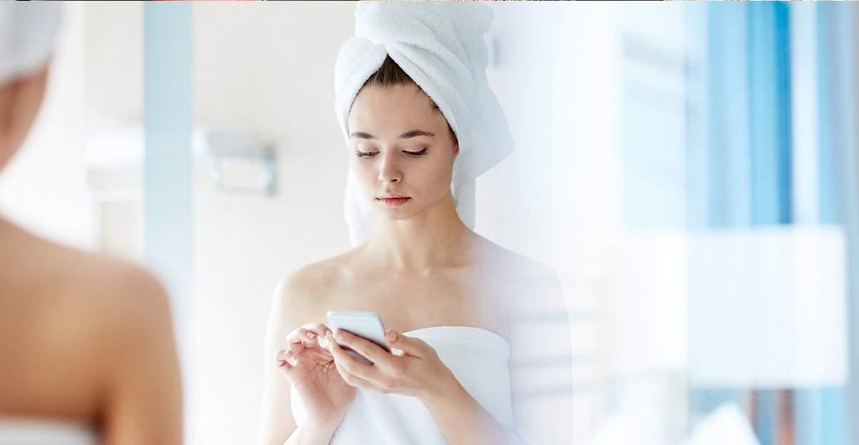 Appareil fonction Bluetooth activée dans la salle de bain