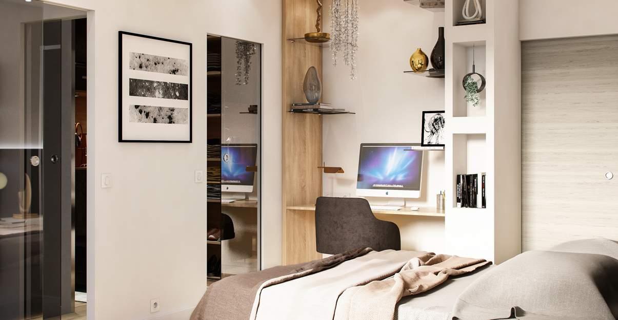 bureau design dans une chambre