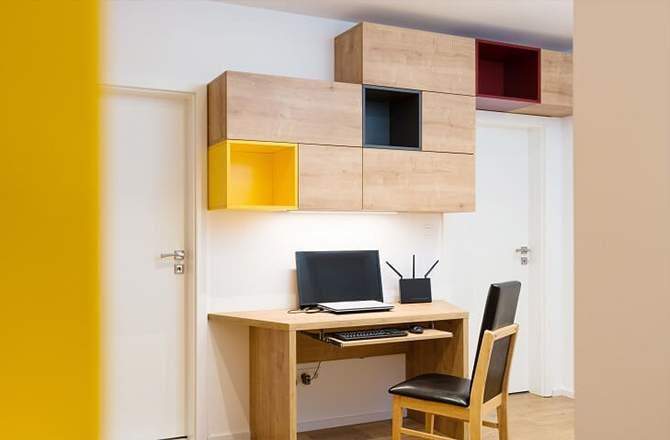 Bureau: meubles ouverts et fermés pour tout ranger