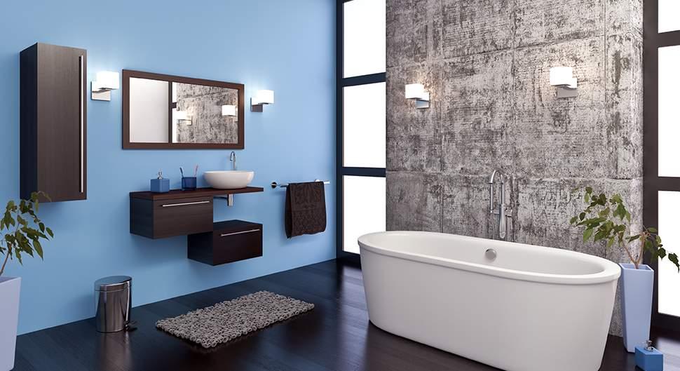 Peinture salle de bains - Bien choisir votre revêtement mural