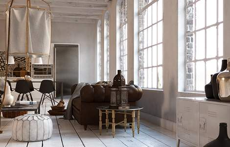 Rénovation intérieur maison ancienne : des poutres blanches