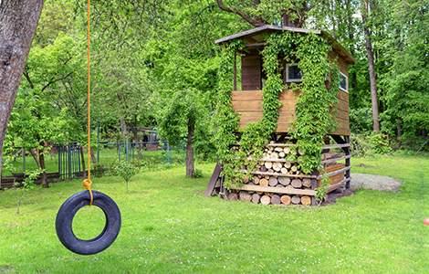 Jardin de rêve : la cabane