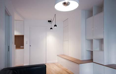 Optimisation d'une entrée et meubles sur mesure