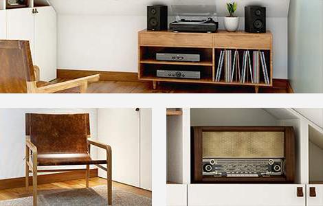 Quel mobilier pour un bureau vintage sous les combles?