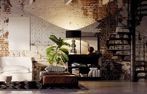 Rénovation intérieur maison ancienne : un escalier industriel