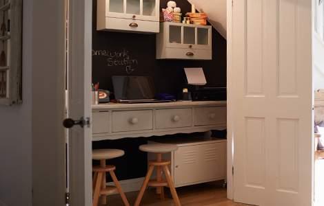Aménager un bureau dans un placard