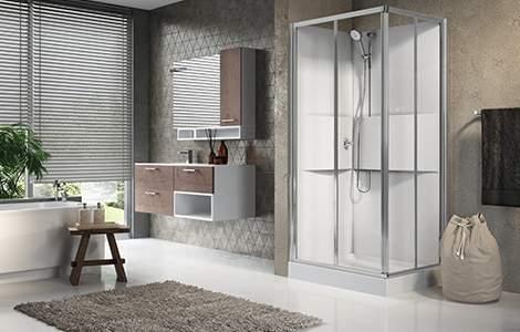 La douche intégrale ou cabine de douche, simple et rapide à installer
