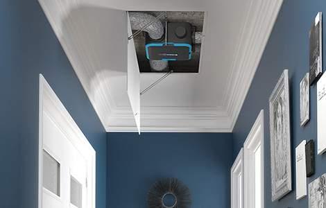 La vmc est dissimulée dans le faux plafond