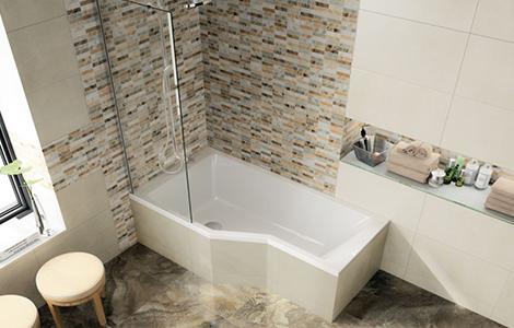 La baignoire avec espace de douche intégré