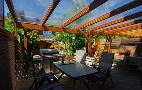 Pergola toiture verre