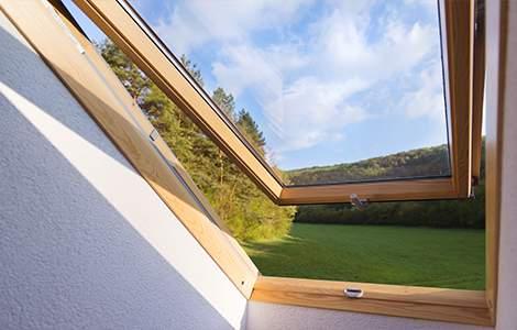 fenêtre de toit et aération