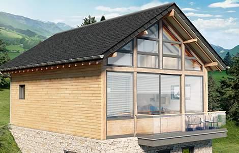 rénovation bioclimatique : les volet à lame orientables intégrées aux fenêtres