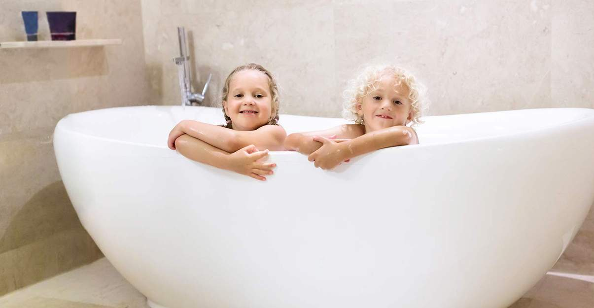 Un bain, 120 litres