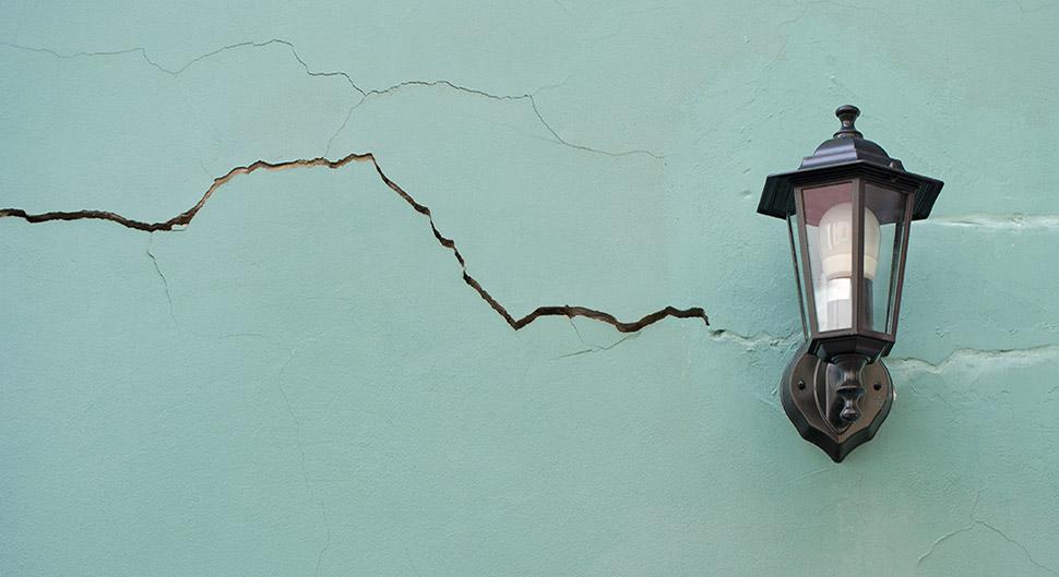 Réparer les fissures de façade