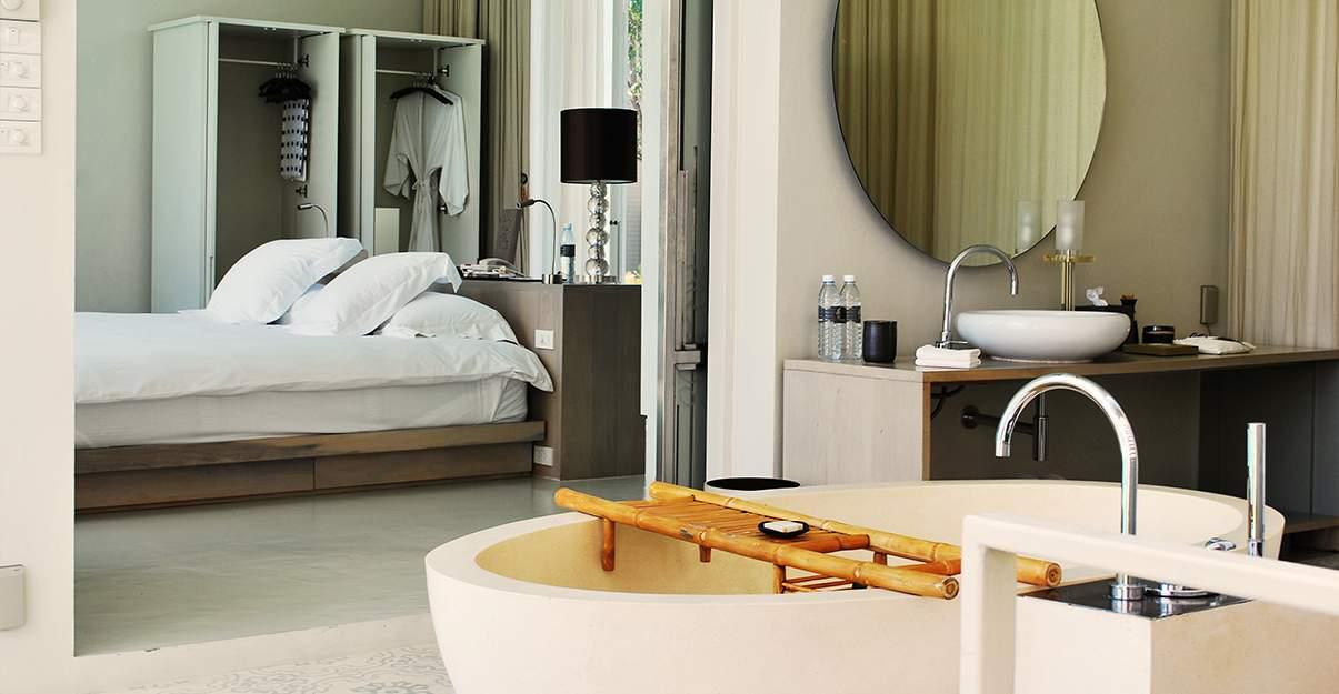 aménager une chambre d'amis agréable : prévoir une salle de bain