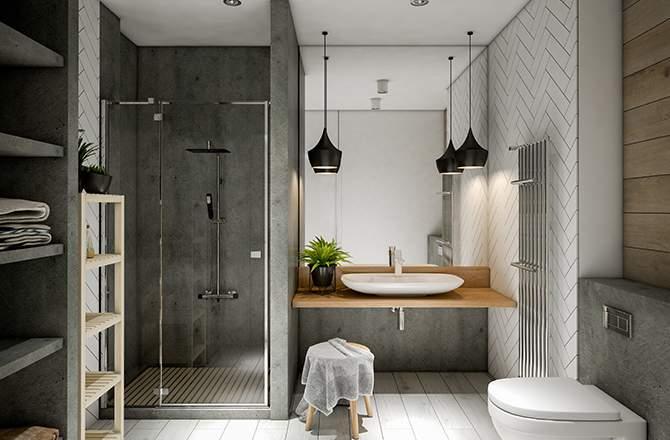 La douche carrée, la forme traditionnelle