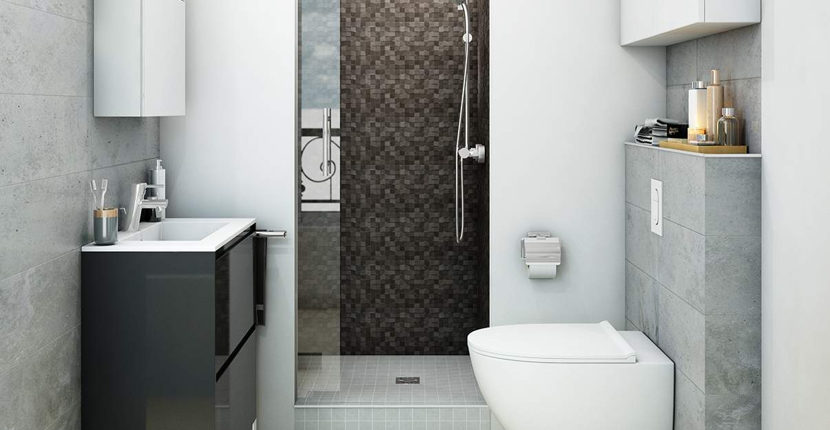 Petite salle de bain: privilégier le gris clair