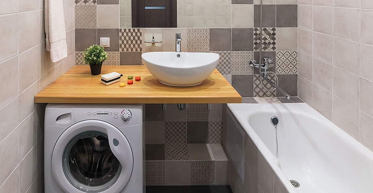 un meuble vasque profond pour accueillir une machine à laver