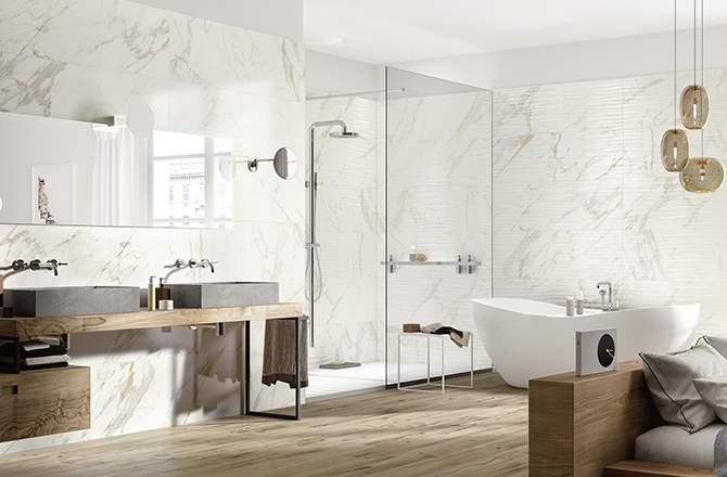 Une salle de bain qui valorise le logement