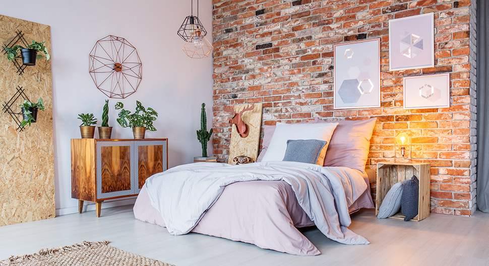 Déco chambre avec pierre de parement - Bien choisir son revêtement mural