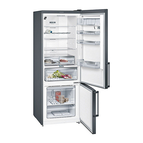 Réfrigérateur Congélateur blackSteel iQ500