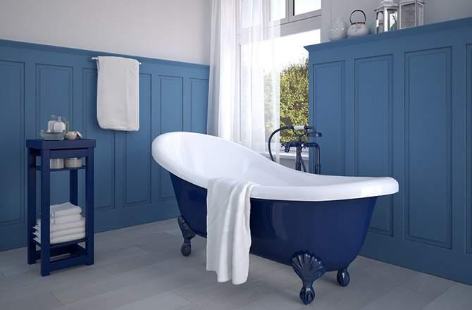 Du bleu et du bois peint pour un effet marin
