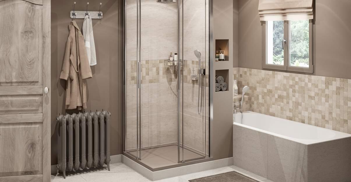 espace douche dans chambre