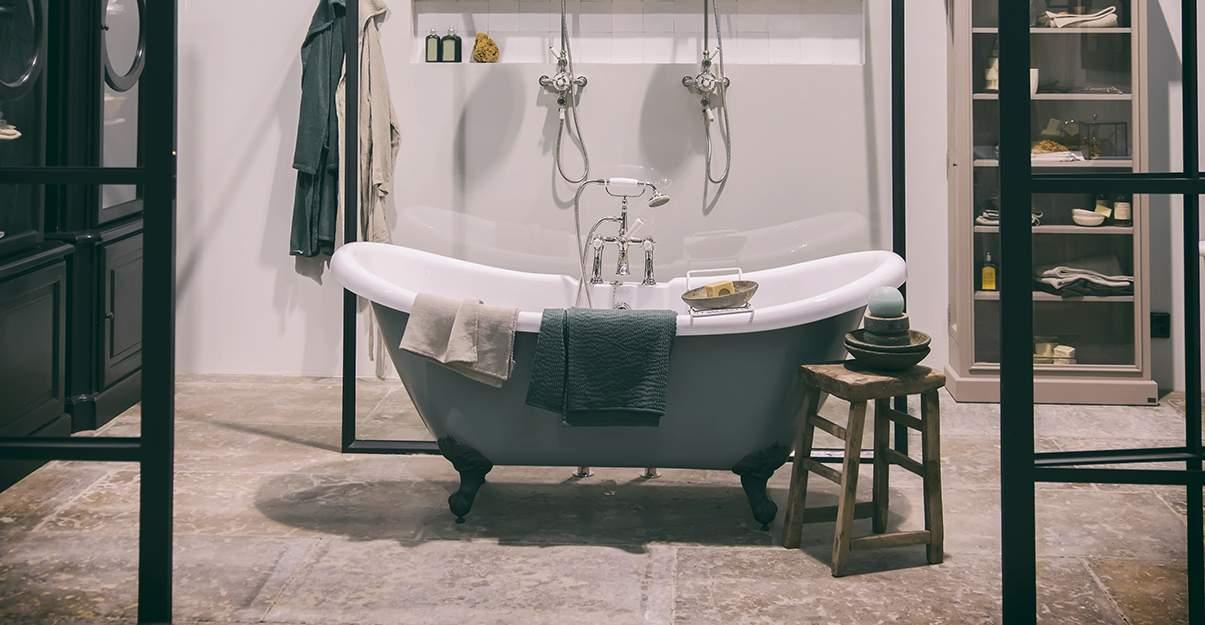 Sol salle de bains en liège, original!