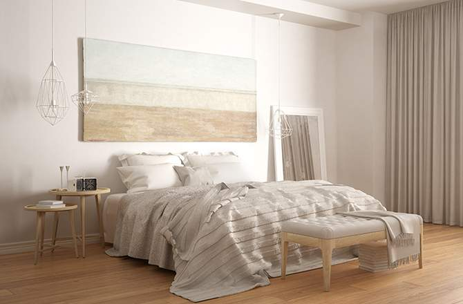 Style scandinave chambre bois - La Maison Saint Gobain