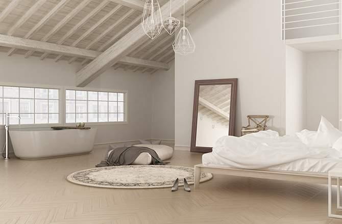 Style scandinave suite parentale - La Maison Saint-Gobain
