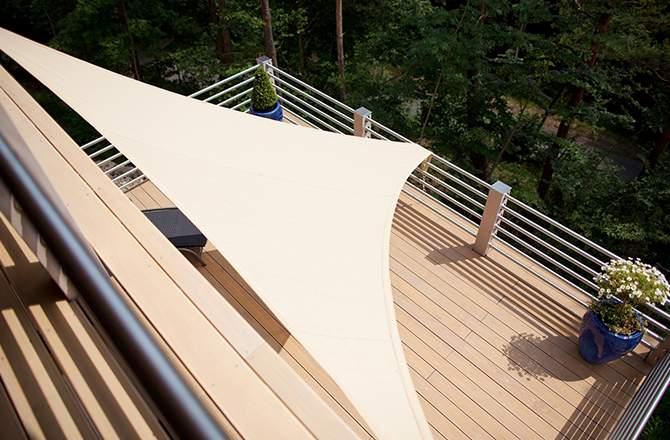 Aménagement d'une terrasse : la voile d'ombrage