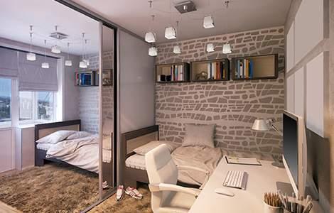 Aménager une petite chambre pour deux ados: la cloison amovible