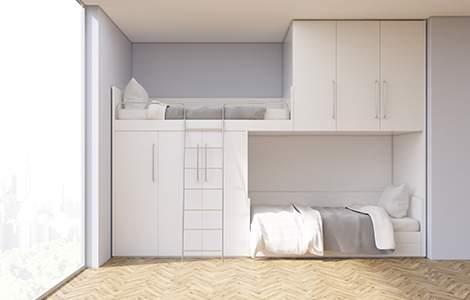 Aménager une petite chambre pour deux ados: les lits