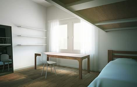 Aménager une petite chambre pour deux ados: la mezzanine