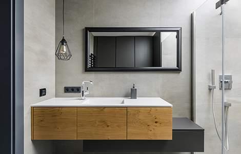 Revêtement mural de salle de bain: le carrelage