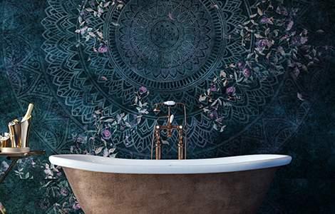 Revêtement mural de salle de bain:  le papier peint