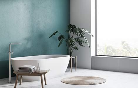 Revêtement mural de salle de bain: la peinture