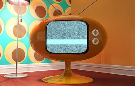Style pop - Télé des 60's - Saint-Gobain.fr