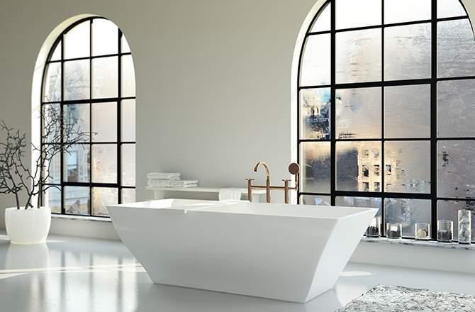 Style Industriel salle de bain verrière Saint-Gobain.fr