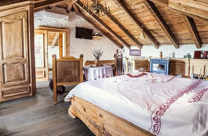 Style Campagne-chic chambre bois La Maison Saint-Gobain